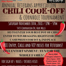 Hope Mills Chamber Chili Cookoff Flyer