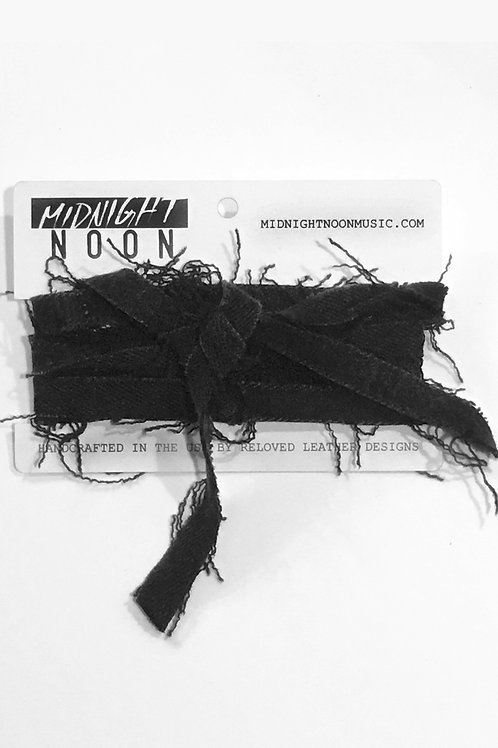 Black Denim Wristlet/Choker