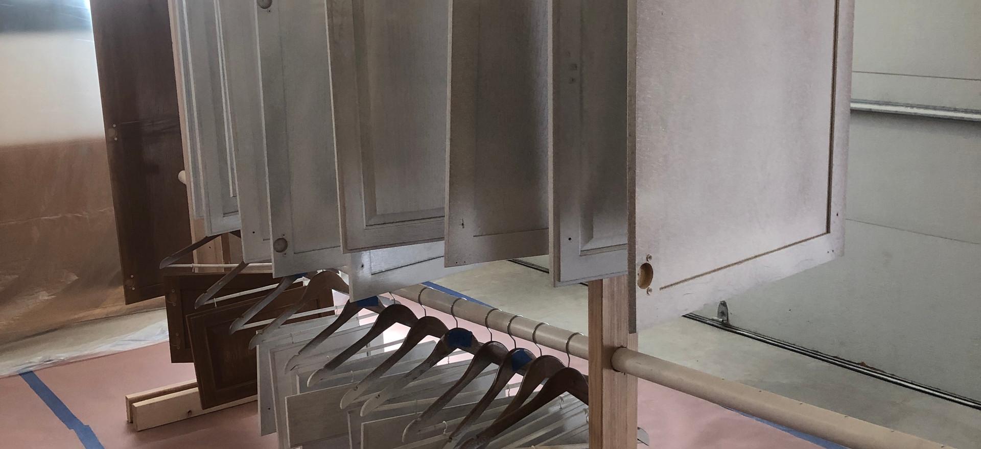 Hanging doors after primer coat