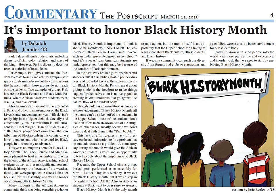 it's important to honor Black History Mo
