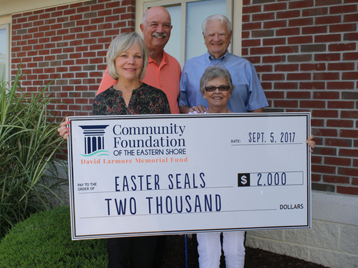 Easterseals Receives Donation for Children's Therapies