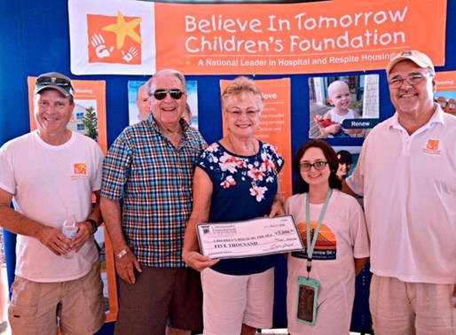 Local couple raises funds for The Believe in Tomorrow House by the Sea