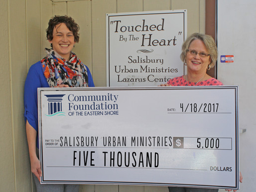 Community Needs Fund Supports Salisbury Urban Ministries