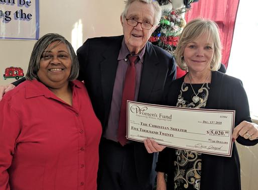 Women's Fund raises $5,000 for the Christian Shelter