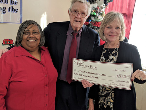 Women's Fund raises $5,000 for the Christian Shelter
