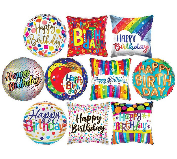 "18"" Foil Message Balloon - Air Filled"