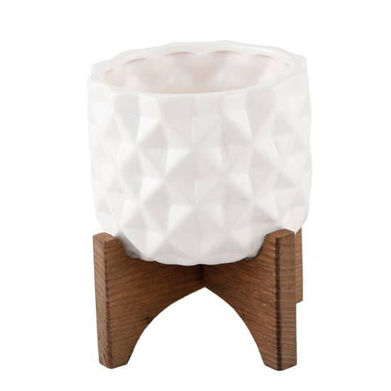 Dimple Pot on Stand - Small