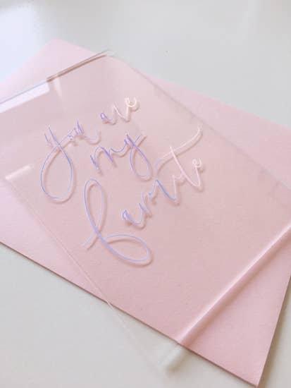 Acrylic Greeting Cards