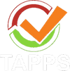 Tapps + Emblem - Vertical White.png