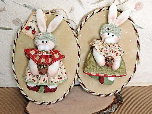 Cartamodello conigliette fragoline