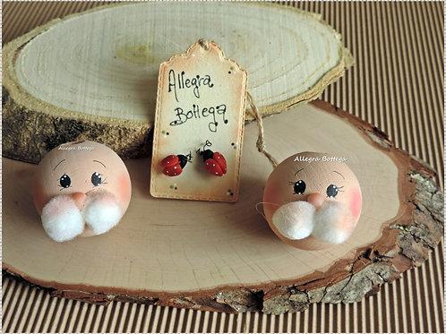 Visi in legno per coniglietti
