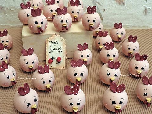 Visi di gallina (Cocchina videotutorial) in legno