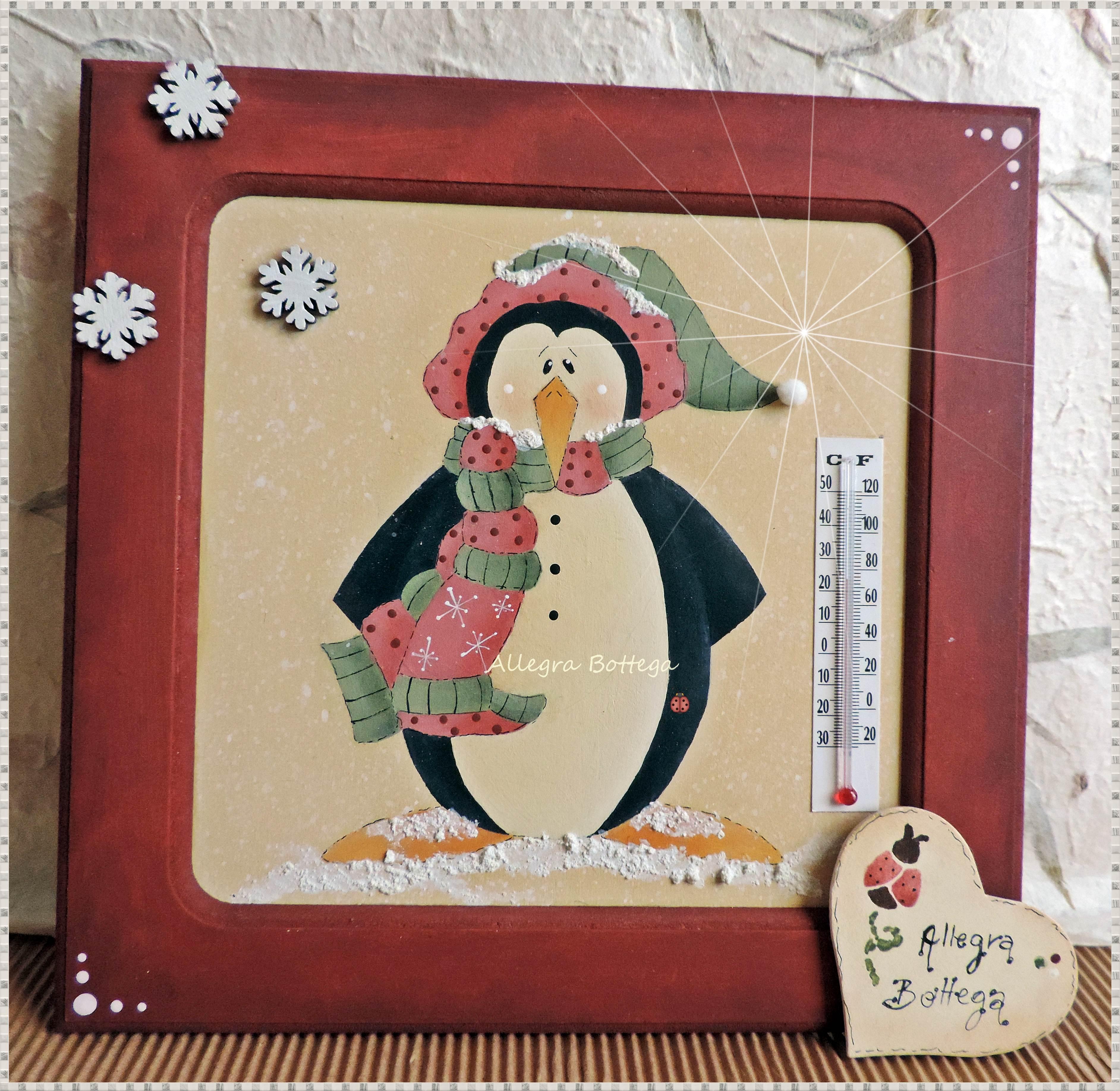 Pinguino con termometro
