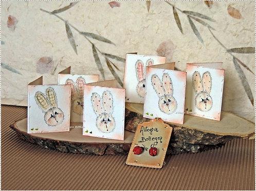 Bigliettini con conigliette