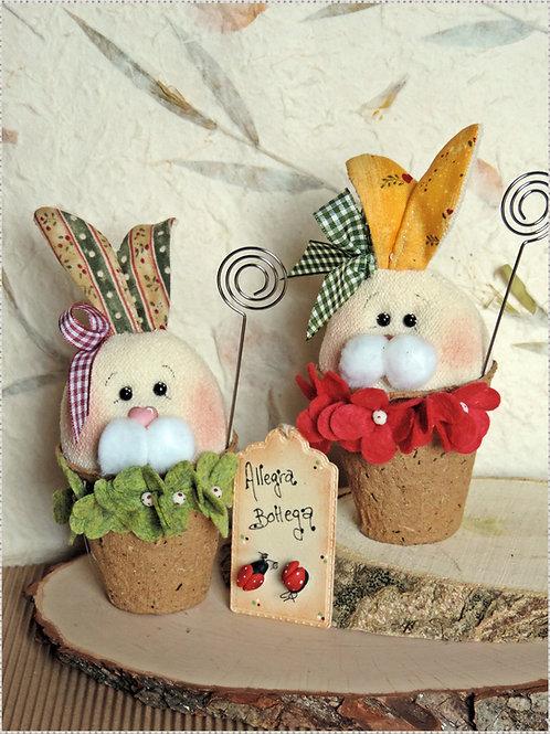 Coniglietti Bruccolini (segnaposto, porta appunti)