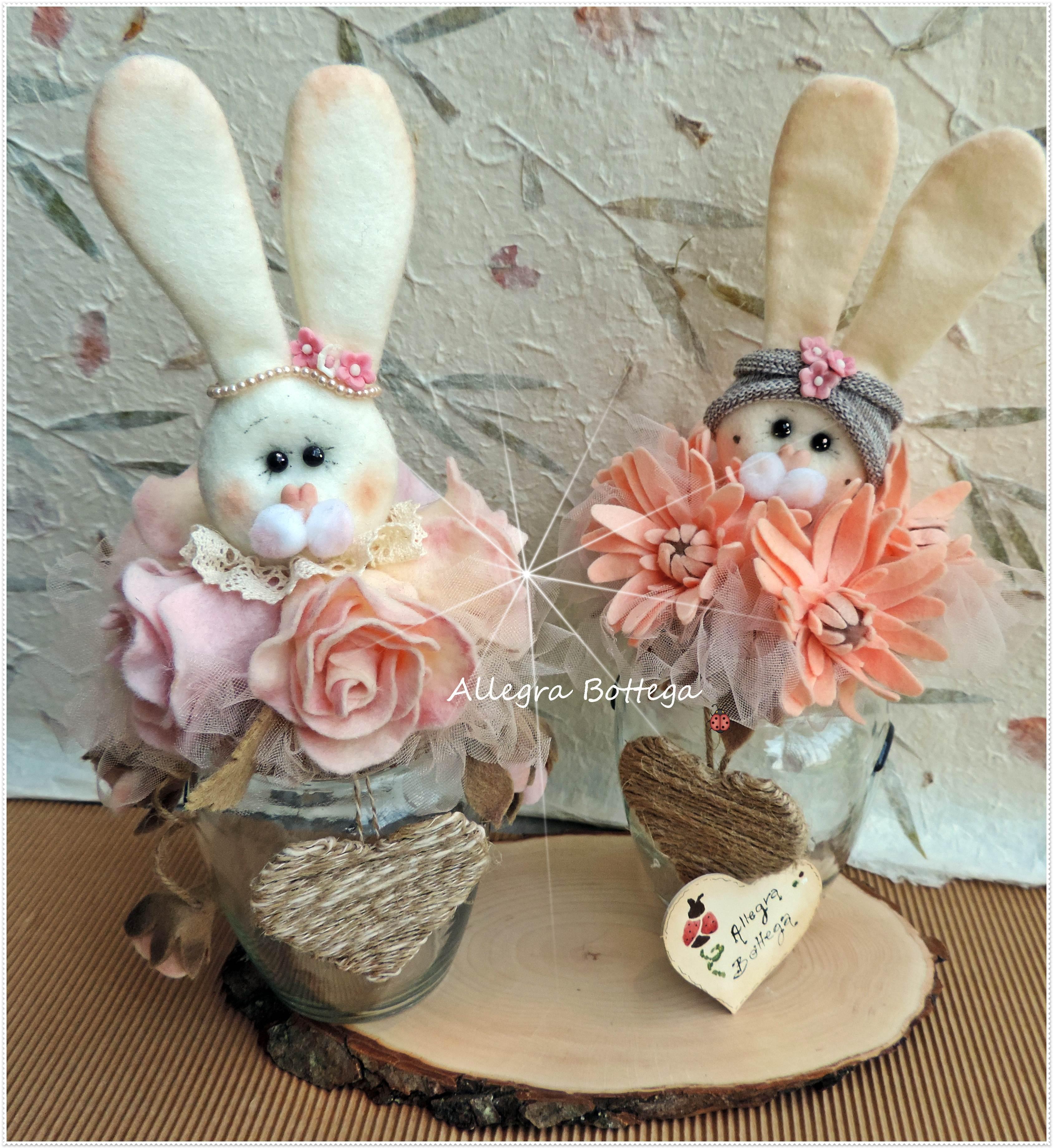Polly e Molly, barattoli con conigli