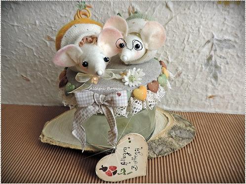 Cartamodello topolini di primavera