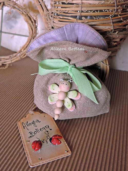 Sacchetti portaconfetti con farfalline