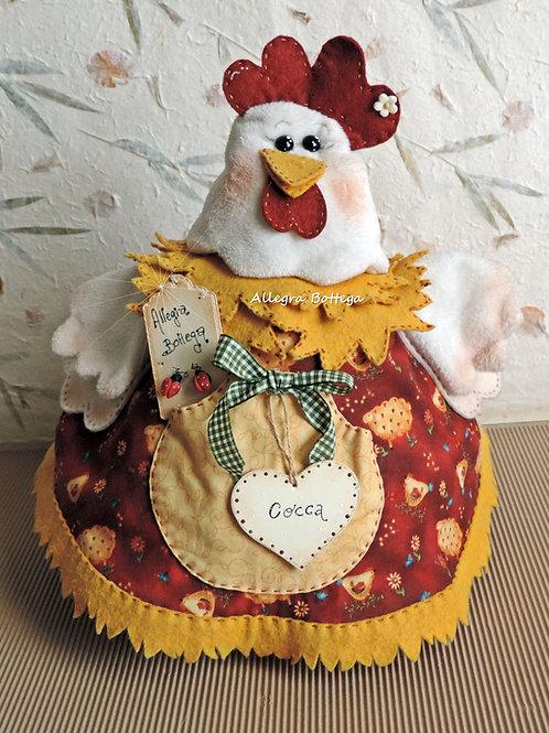 Cartamodello gallina Cocca