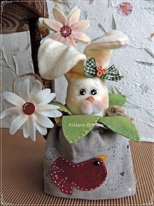 Cartamodello Evelina coniglietta porta cioccolatini