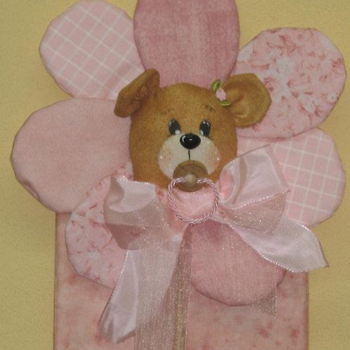 Cartamodello fiocco nascita un fior di orsetto