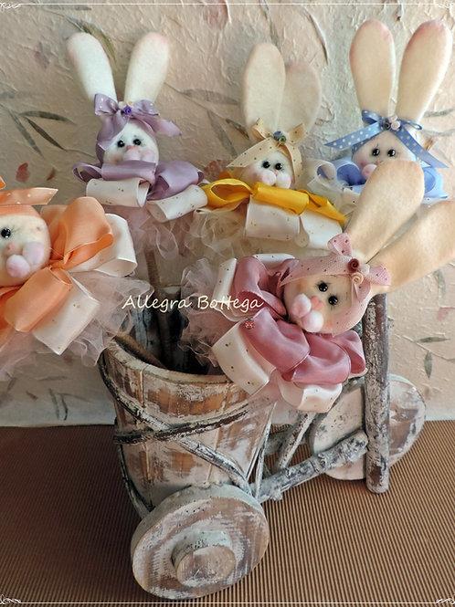 Cartamodello coniglietti sui bastoncini
