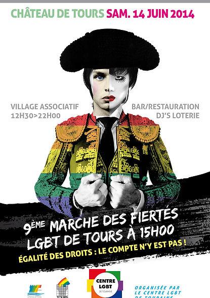 Affiche Marche des Fiertés de Tours 2014