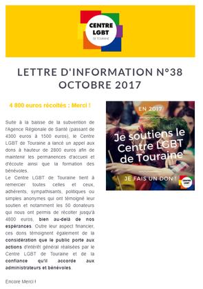 Lettre d'information octobre 2017