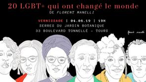Exposition : 20 LGBT+ qui qui ont changé le monde. 04/06/19 à 19h