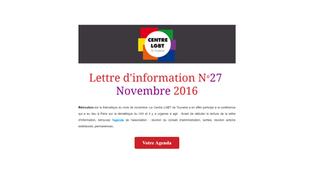 Lettre d'information de Novembre 2016