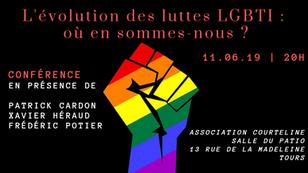Conférence : l'évolution des luttes LGBTI : où en sommes-nous ? 11/06/19 à 20h