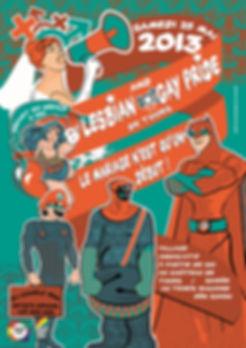Affiche Marche des Fiertés de Tours 2013
