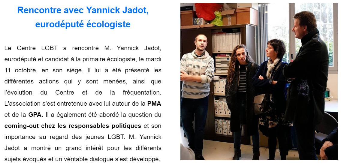 Entretien avec Yannick Jadot