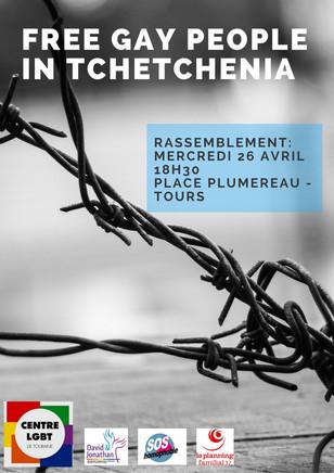 «Rassemblement interassociatif à l'initiative du Centre LGBT de Touraine : Free Gay People in T