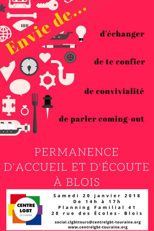 1ère permanence à Blois le 20 janvier