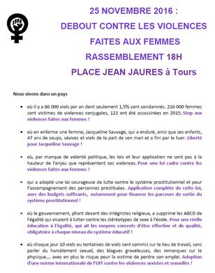 """Le Centre LGBT de Touraine, solidaire de """"Debout contre les violences faites aux femmes"""""""