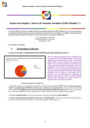 Enquête :Tours et la Touraine, territoire LGBTI-friendly ?