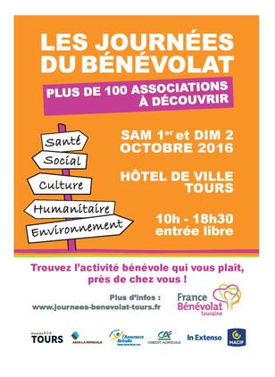 1er et 2 octobre, l'association participe aux journées du bénévolat, venez nous rencontrer !