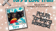 Help Get Tory Home...4 Drivers Still Needed