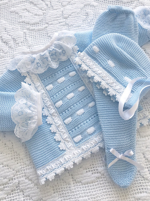 Livorno ~ in beautiful blue (Lovere Lace blouse may be purchased separately)