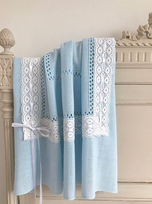 Lucella Lace ~ in blue with white lace
