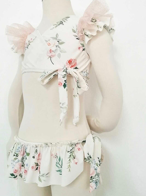 Amalfi Coast swimwear collection - frilly floral tulle bikini
