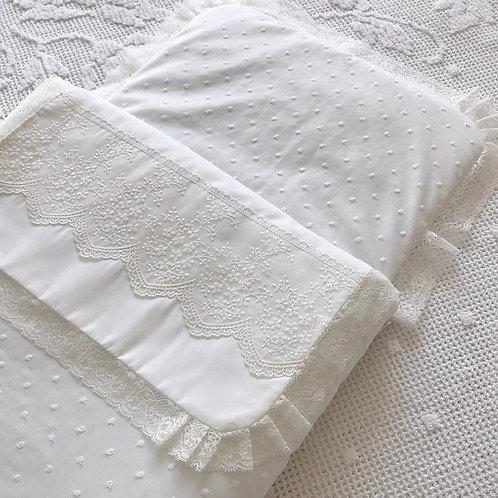 Ascoli Piceno ~ Pram cozy in cream (with zip)