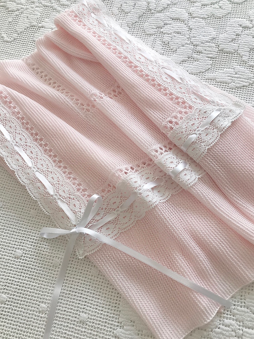 Lucella Lace ~ in pink with white lace