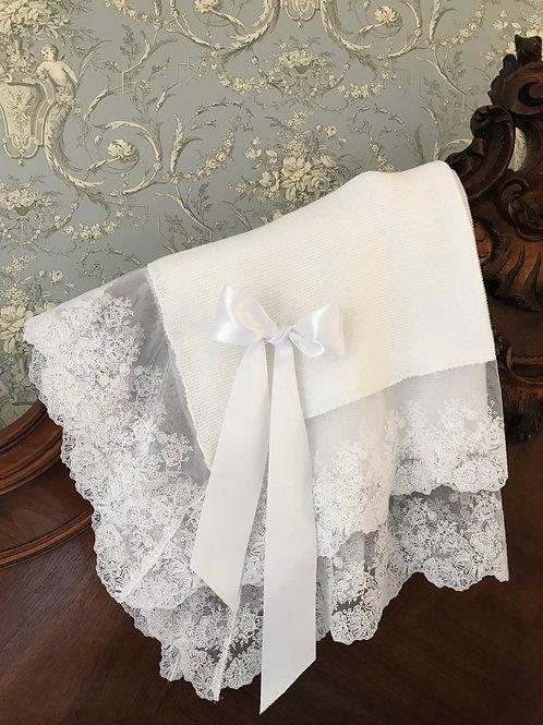 Bella Perfecto blanket ~ in pure white