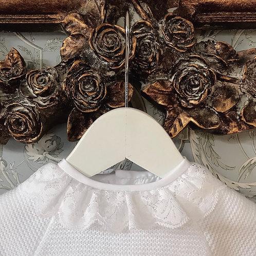 Lovere Lace blouse ~ in pure white