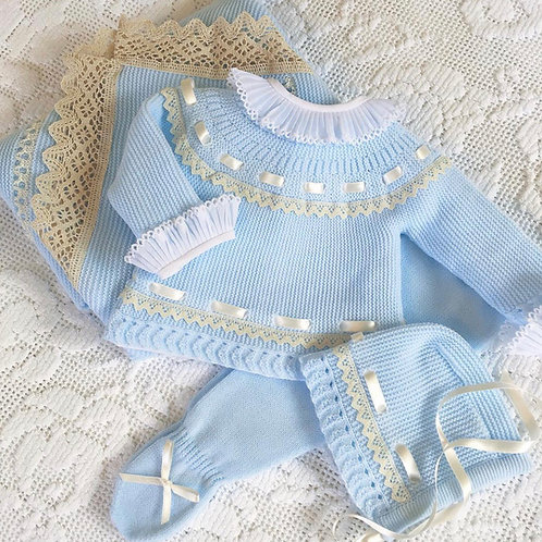 Padova ~ in blue and cream (Bella Ruffle blouse can be purchased separately)