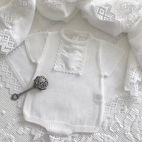 Acilia romper ~ in pure white