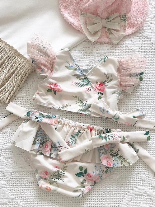 Amalfi Coast swimwear collection - frilly floral tulle bikini