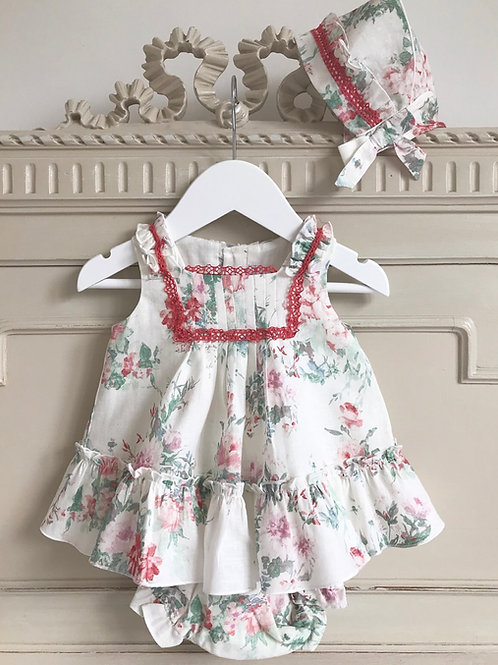 Loreto ~ bloomers set with matching bonnet